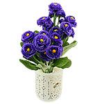 Lule artificiale Kryesore Dekor, Mëndafsh, Shape Tjera, vjollcë, 330x170mm, 10PC/Qese,  Qese