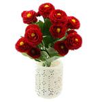 Lule artificiale Kryesore Dekor, Mëndafsh, Shape Tjera, i kuq, 330x170mm, 10PC/Qese,  Qese