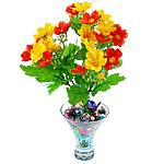 Lule artificiale Kryesore Dekor, Mëndafsh, Shape Tjera, 290x240mm, 10PC/Qese,  Qese