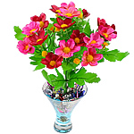 Lule artificiale Kryesore Dekor, Mëndafsh, Shape Tjera, rozë, 290x240mm, 10PC/Qese,  Qese