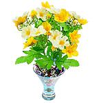 Lule artificiale Kryesore Dekor, Mëndafsh, Shape Tjera, i verdhë, 290x240mm, 10PC/Qese,  Qese