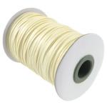 Cord Wax, drita e verdhë, 2mm, :100Oborr, 3PC/Shumë,  Shumë