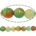 Rainbow Natyrore Beads agat, Rainbow agat, Round, asnjë, makinë faceted, 14mm, : 2mm, : 15Inç, 5Fillesat/Shumë,  Shumë