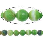 Beads Dashuri Green agat, Jeshile agat, Round, asnjë, makinë faceted & shirit, 8mm, : 2mm, : 15Inç, 5Fillesat/Shumë,  Shumë