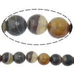 Agat Beads, dantella agat, Round, shirit, 6mm, : 2mm, :15Inç, 5Fillesat/Shumë,  Shumë