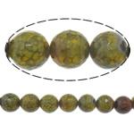 Veins Natyrore Dragon agat Beads, Agat Dragon venë, Round, asnjë, makinë faceted, 14mm, : 1.8mm, :15Inç, 5Fillesat/Shumë,  Shumë