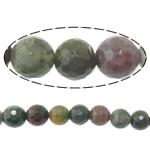Manik-manik batu akik India alami, Putaran, tidak ada, Mesin segi, 8mm, : 1.5mm, :15Inci, 10Helai/Banyak,  Banyak