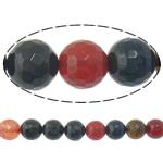 Agat Beads, Agat përziera, Round, i lyer, asnjë, 14mm, : 2mm, :15Inç, 5Fillesat/Shumë,  Shumë