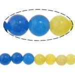 Beads Mermer Natyrore, Round, i lyer, 4mm, : 1mm, :15.5Inç, 10Fillesat/Shumë,  Shumë