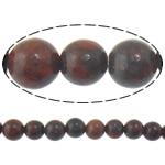 Jaspis Brekzien Perlen, Jaspis Brecciated, rund, natürlich, 10mm, Bohrung:ca. 1mm, Länge:ca. 15 ZollInch, 10/