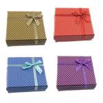 Karton Set bizhuteri Box, Katror, ngjyra të përziera, 90x90x30mm, 72PC/Shumë,  Shumë