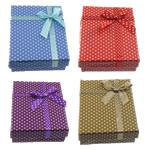 Karton Set bizhuteri Box, Drejtkëndësh, ngjyra të përziera, 90x70x25mm, 100PC/Shumë,  Shumë