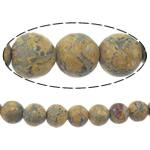Leopardhaut Stein, rund, natürlich, 6mm, Bohrung:ca. 1.5mm, Länge:ca. 15 ZollInch, 10SträngeStrang/Menge, ca. 60PCs/Strang, verkauft von Menge