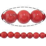 Beads Round Crystal, Kristal, Siam, 10mm, : 1.5mm, :15Inç, 10Fillesat/Shumë,  Shumë
