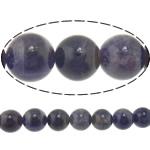 Beads kuarc bizhuteri, Ametist, Round, asnjë, 12mm, : 1.5mm, :15.5Inç, 5Fillesat/Shumë,  Shumë
