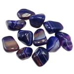 Komponenti varëse gur i çmuar, Blue agat, Shape përziera, 30-40mm,  KG