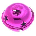 Hekuri Pendants Bell, pikturë, Pink fuchsia, , nikel çojë \x26amp; kadmium falas, 25x31mm, : 7x3.5mm, 100PC/Qese,  Qese