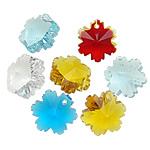 KRISTALLanhänger, Kristall, Blume, gemischte Farben, 12.50x14x8.50mm, Bohrung:ca. 1mm, 10PCs/Tasche, verkauft von Tasche