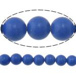 Synthetischer Lapislazuli Perlen, rund, blau, 10mm, Bohrung:ca. 1mm, Länge:ca. 15 ZollInch, 20SträngeStrang/Menge, ca. 37PCs/Strang, verkauft von Menge