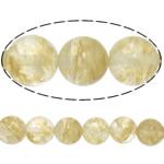 Beads Stone Kafe, Round, natyror, 4mm, : 1.2mm, :15.5Inç, 20Fillesat/Shumë,  Shumë