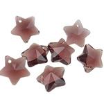 Crystal Pendants, Kristal, Yll, Tanzanite, 13x13x8mm, : 1mm, 10PC/Qese,  Qese