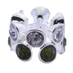 Strass Perlen European Stil, Zinklegierung, ohne troll & mit Strass, 7x10mm, Bohrung:ca. 5mm, 10PCs/Tasche, verkauft von Tasche