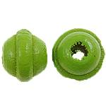 Beads druri, Rondelle, i lyer, e gjelbër, 6x7mm, : 2mm, 5600PC/Qese,  Qese