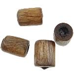 Beads druri, Kolonë, i lyer, gri, 4x3mm, : 1mm, 25000PC/Qese,  Qese