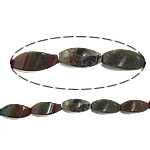 Manik-manik batu akik India alami, Twist, 10x18mm, : 1.7mm, :16Inci, 5Helai/Banyak,  Banyak