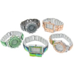 Byzylyk Moda Rights Watch, Alloy zink, with Xham, ngjyra të përziera, , nikel çojë \x26amp; kadmium falas, 36-45x38-45mm, :8Inç, 3PC/Shumë,  Shumë