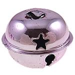 Hekuri Pendants Bell, pikturë, purpurtë drita, , nikel çojë \x26amp; kadmium falas, 26x31mm, : 7x4mm, 100PC/Qese,  Qese