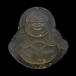 White Jade, Buda, Gdhendur, asnjë, 32.50x35x8mm, : 1mm, 5PC/Qese,  Qese