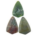 Pendants Indian agat, Shape Tjera, natyror, asnjë, 26x39x7mm, : 1mm, 20PC/Qese,  Qese
