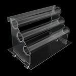 Organike byzylyk Glass Display, Glass Organike, Shkallë, asnjë, i tejdukshëm, qartë, 310x180x200mm, 50mm, 5PC/Shumë,  Shumë