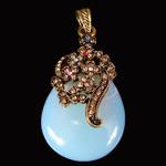 Deti Pendants opal, Deti Opal, with Tunxh, Lot, natyror, me diamant i rremë, asnjë, 31x54.80x12mm, : 5x8mm, 10PC/Qese,  Qese