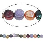 Barok Beads kulturuar Pearl ujërave të ëmbla, Pearl kulturuar ujërave të ëmbla, i lyer, ngjyra të përziera, 5-6mm, : 1mm, :15.7Inç,  15.7Inç,