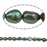 Barok Beads kulturuar Pearl ujërave të ëmbla, Pearl kulturuar ujërave të ëmbla, i lyer, e gjelbër, 8-9mm, : 1mm, :15.7Inç,  15.7Inç,