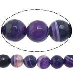 Beads Natyrore Purple agat, Round, asnjë, makinë faceted & shirit, 10mm, : 1-1.5mm, :15Inç, 5Fillesat/Shumë,  Shumë