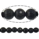 Beads Black Stone, Round, 4mm, : 2mm, :15Inç, 10Fillesat/Shumë,  Shumë