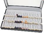 Një palë vathë Pearl ujërave të ëmbla, Pearl kulturuar ujërave të ëmbla, Shape Tjera, asnjë, ngjyra të përziera, 9-10mm, 36Çiftet/Kuti,  Kuti