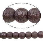 Glass Beads Moda, Xham, Round, asnjë, ngjyrë kafe, 8mm, : 1-1.5mm, :16.1Inç, 10Fillesat/Qese,  Qese