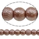 Glass Beads Moda, Xham, Round, asnjë, 8mm, : 1-1.5mm, :15.4Inç, 10Fillesat/Qese,  Qese