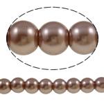 Glass Beads Moda, Xham, Round, asnjë, ngjyrë kafe, 8mm, : 1-1.5mm, : 32.3Inç, 10Fillesat/Qese,  Qese