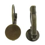 Llozi tunxh Back Vath Komponenti, Shape Tjera, ngjyrë bakri të praruar antike, asnjë, asnjë, , nikel çojë \x26amp; kadmium falas, 8x20x13mm, : 8mm, 200Çiftet/Qese,  Qese
