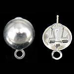 Clip tunxh Në Vath Finding, Shape Tjera, Ngjyra argjend praruar, asnjë, asnjë, , nikel çojë \x26amp; kadmium falas, 14x19mm, : 3mm, 100Çiftet/Qese,  Qese