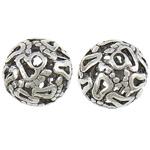 Beads aliazh zink Hollow, Alloy zink, Round, Ngjyra antike argjendi praruar, asnjë, asnjë, , nikel çojë \x26amp; kadmium falas, 15mm, : 2.2mm, 100PC/Qese,  Qese