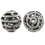 Beads aliazh zink Hollow, Alloy zink, Round, Ngjyra antike argjendi praruar, asnjë, asnjë, , nikel çojë \x26amp; kadmium falas, 10mm, : 2mm, 100PC/Qese,  Qese