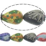 Beads polimer balta, Polymer Clay, Lot, asnjë, asnjë, ngjyra të përziera, 18x14mm, : 1.5mm, : 16Inç, 10Fije floku/Shumë,  Shumë