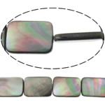 Beads Zi Shell, Drejtkëndësh, natyror, asnjë, asnjë, 18x13x3.50mm, : 0.7mm, :16Inç, 5Fillesat/Shumë,  Shumë