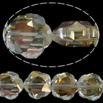 Imitim Swarovski Crystal Beads, Kristal, Lule, Ngjyra AB kromuar, imitim kristal Swarovski, Gëlqere, 20x20x11mm, : 1.2mm, 100PC/Shumë,  Shumë